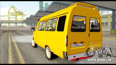 GAZelle 3221 2007 Final pour GTA San Andreas laissé vue