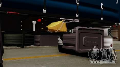 Trailer Krone Profiliner v2 für GTA San Andreas Rückansicht