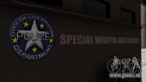 GTA 5 Enforcer S.W.A.T. für GTA San Andreas rechten Ansicht