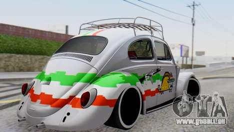 Volkswagen Beetle Vocho Nyan Cat V Mexicano pour GTA San Andreas laissé vue