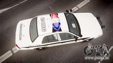 Ford Crown Victoria 2008 New Alderney Sheriff für GTA 4 rechte Ansicht