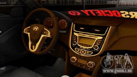 Hyundai Accent Blue für GTA San Andreas rechten Ansicht