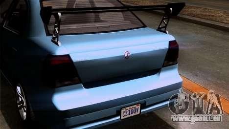 GTA 5 Declasse Asea IVF pour GTA San Andreas vue intérieure