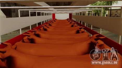 Trailer Cows pour GTA San Andreas vue arrière