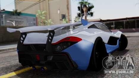 Progen T20 GTR pour GTA San Andreas laissé vue