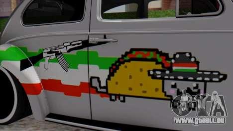 Volkswagen Beetle Vocho Nyan Cat V Mexicano pour GTA San Andreas sur la vue arrière gauche