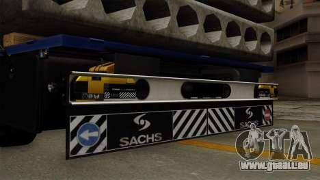 Flatbed3 Yellow pour GTA San Andreas vue de droite