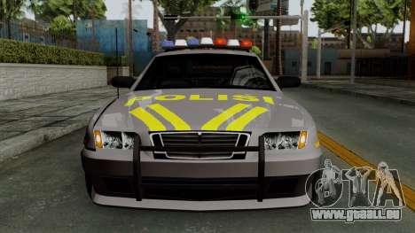 Indonesian Police Type 1 für GTA San Andreas Seitenansicht