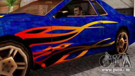 Elegy First Vinyl MQ pour GTA San Andreas sur la vue arrière gauche