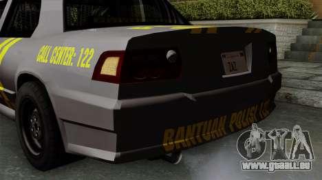 Indonesian Police Type 1 pour GTA San Andreas vue de dessous