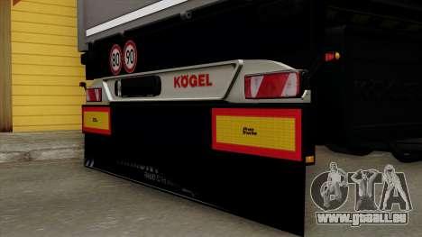 Trailer Kogel pour GTA San Andreas vue arrière