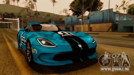 Dodge Viper SRT GTS 2013 IVF (HQ PJ) HQ Dirt für GTA San Andreas Innen