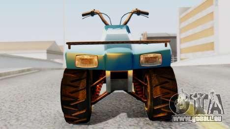 New Quad für GTA San Andreas zurück linke Ansicht