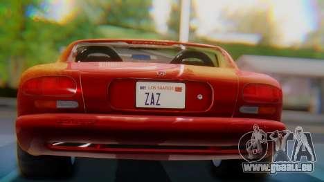 Dodge Viper RT-10 1992 für GTA San Andreas Innenansicht