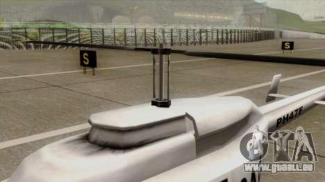 Rain Dance Maverick für GTA San Andreas rechten Ansicht