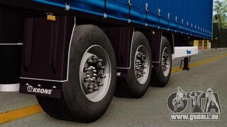 Trailer Krone Profiliner v1 pour GTA San Andreas sur la vue arrière gauche