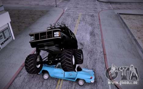 Huntley Monster v3.0 pour GTA San Andreas sur la vue arrière gauche