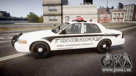 Ford Crown Victoria 2008 New Alderney Sheriff für GTA 4 linke Ansicht