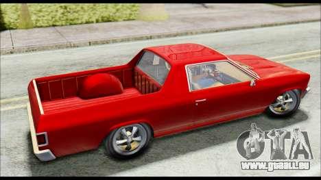 GTA 5 Cheval Picador pour GTA San Andreas sur la vue arrière gauche
