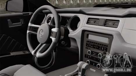 Ford Mustang GT 2010 für GTA San Andreas Rückansicht