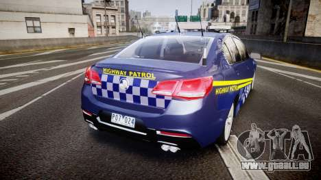 Holden VF Commodore SS Highway Patrol [ELS] v2.0 für GTA 4 hinten links Ansicht