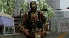 L'Afrique du soldat Américain dans le camouflage
