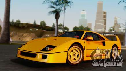 Ferrari F40 1987 without Up Lights für GTA San Andreas