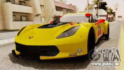 Chevrolet Corvette C7R GTE 2014 PJ2 pour GTA San Andreas