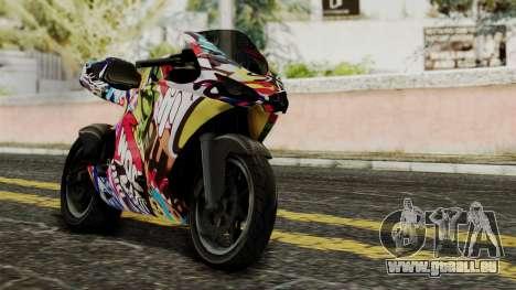 Bati Motorcycle JDM Edition pour GTA San Andreas vue intérieure