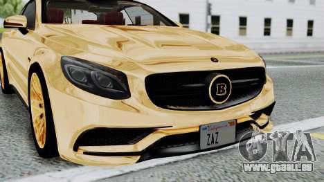 Brabus 850 Gold pour GTA San Andreas vue intérieure