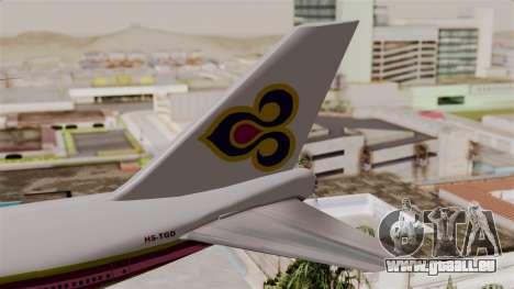 Boeing 747-200 Thai Airways pour GTA San Andreas sur la vue arrière gauche