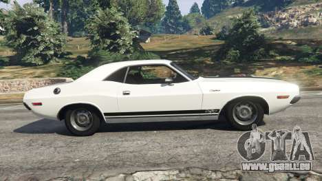 GTA 5 Dodge Challenger RT 440 1970 v1.0 vue latérale gauche