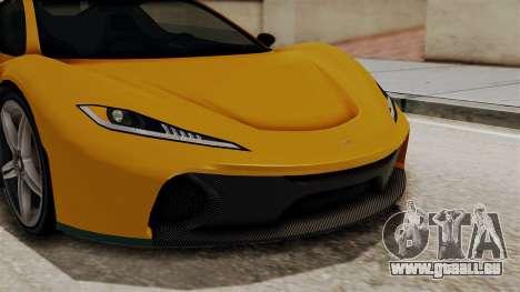 GTA 5 Progen T20 IVF für GTA San Andreas Innenansicht