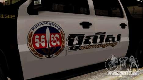 Sheriff Granger Police GTA 5 pour GTA San Andreas sur la vue arrière gauche
