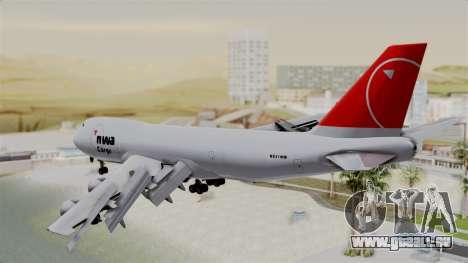 Boeing 747 Northwest Cargo für GTA San Andreas linke Ansicht