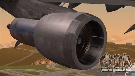 Boeing 747 Air France für GTA San Andreas rechten Ansicht