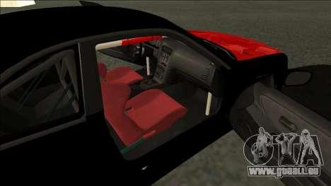 Nissan Skyline R33 Monster Energy pour GTA San Andreas sur la vue arrière gauche