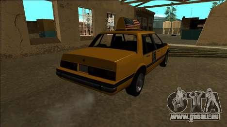 Willard Taxi für GTA San Andreas Rückansicht