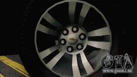 Chevrolet Suburban FSB pour GTA San Andreas vue arrière
