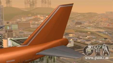 Boeing 747 Braniff pour GTA San Andreas sur la vue arrière gauche
