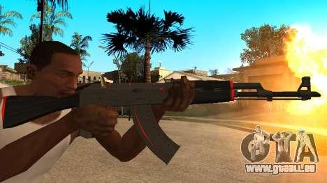 L'AK-47 de la Ligne Rouge de CS:GO pour GTA San Andreas
