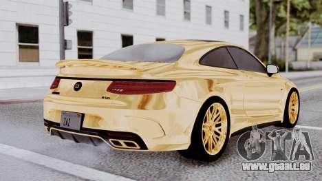 Brabus 850 Gold pour GTA San Andreas laissé vue