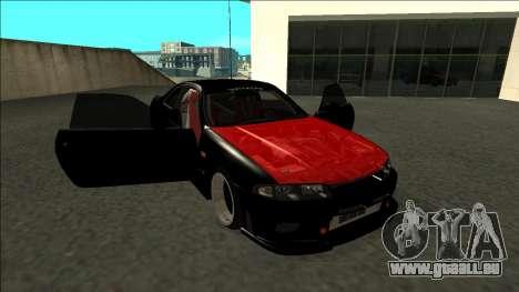 Nissan Skyline R33 Monster Energy pour GTA San Andreas vue de côté