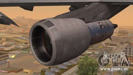 Boeing 747 Braniff pour GTA San Andreas vue de droite