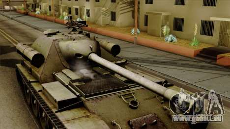 SU-101 122mm from World of Tanks pour GTA San Andreas vue de droite