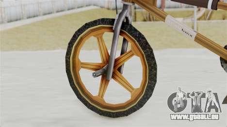 Retro BMX from Bully pour GTA San Andreas sur la vue arrière gauche