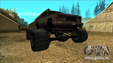 New Yosemite v2 Monster für GTA San Andreas Rückansicht