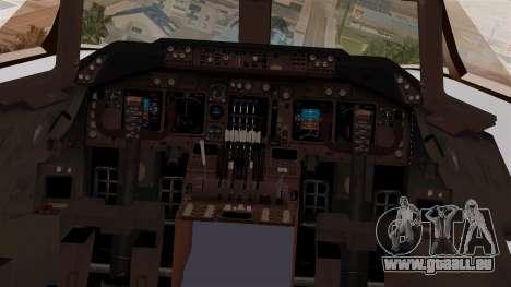 Boeing 747-200 Thai Airways für GTA San Andreas Rückansicht