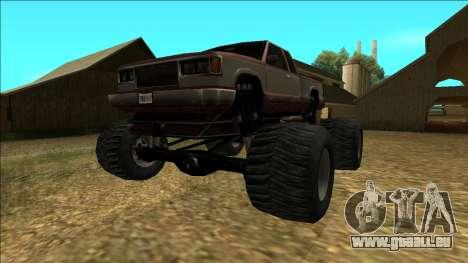 New Yosemite v2 Monster pour GTA San Andreas sur la vue arrière gauche