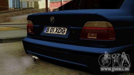 BMW M5 E39 Bucharest pour GTA San Andreas vue arrière